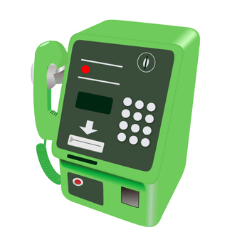 Green pay phone