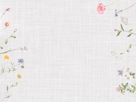 花枠374-小さなメモカードの花枠