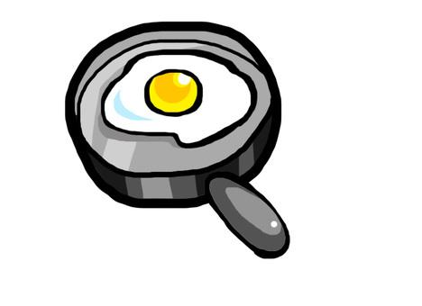 계란 후라이 + 프라이팬