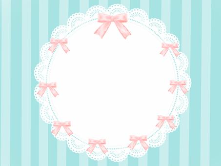 Stylish ribbon frame