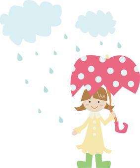 Girl on a rainy day