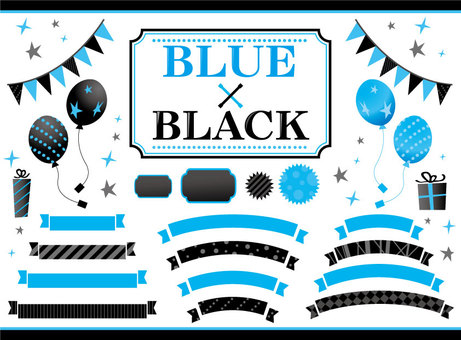Material Black and Blue