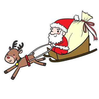 Santa Claus, Reindeer and Sori