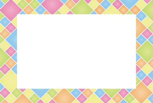 Diamond shaped colorful frame