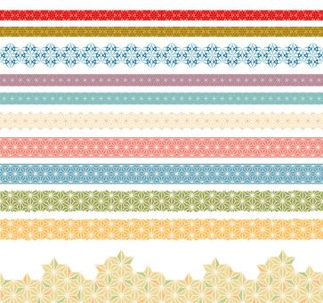 Japanese pattern decorative ruled set 09
