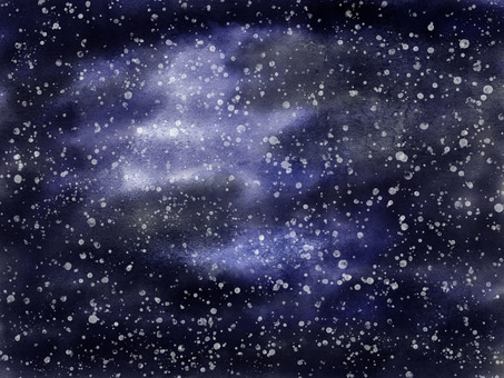 Snow in the night sky