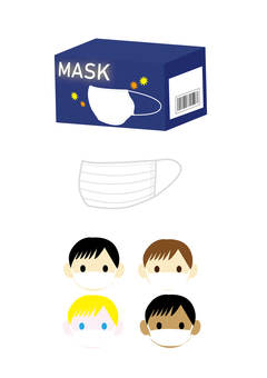 Mask and child in mask