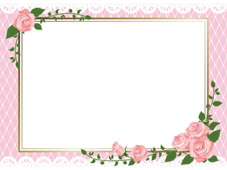 Pink rose gothic frame side 01