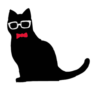 Black cat silhouette glasses