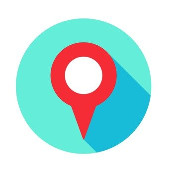 Flat icon - Map pointer