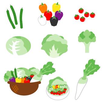 Vegetable set (salad)