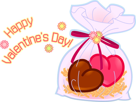 Valentine (heart chocolate large / bag)