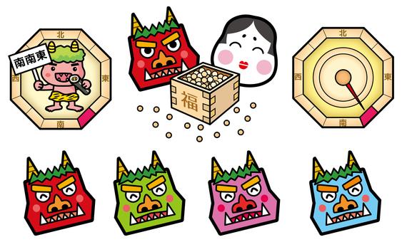 Various demons of Setsubun