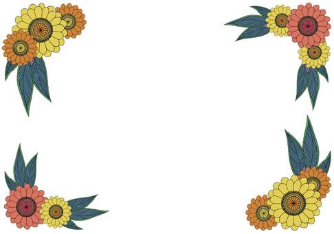 Asian flower frame