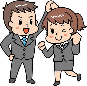 Energetic man and woman / suit 3