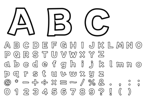 Rough gothic alphabet border character