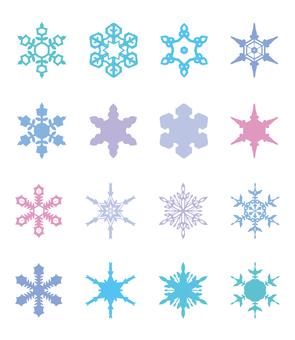 各種雪晶[1]