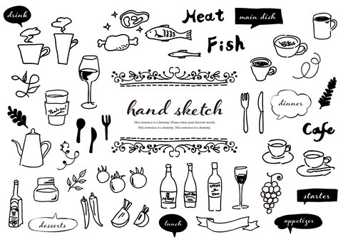 Handwritten material 038 Menu illustration