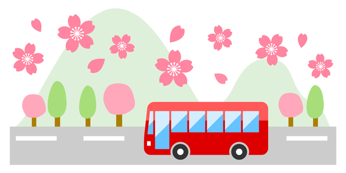 Spring bus travel image