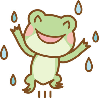 Frog pleased with rain