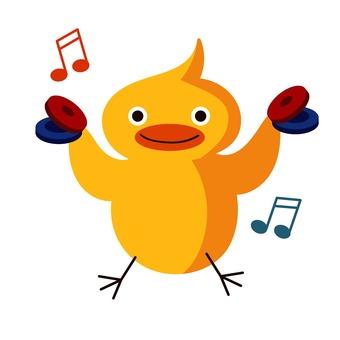 響板和小雞