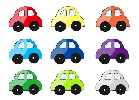 Various color cars
