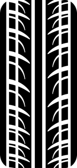 Car tire silhouette