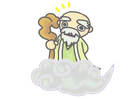 God of a sennin (surprised)
