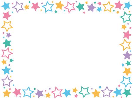 Colorful star frame