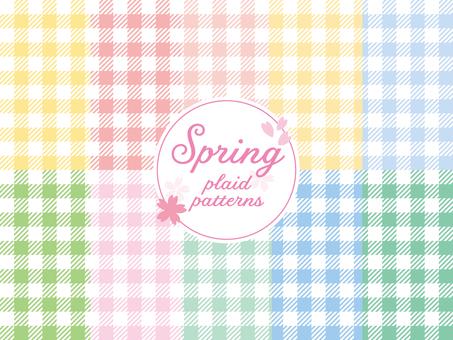Spring color gingham check set