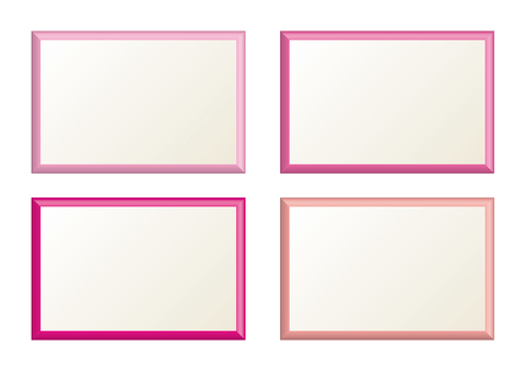 Simple frame pink type