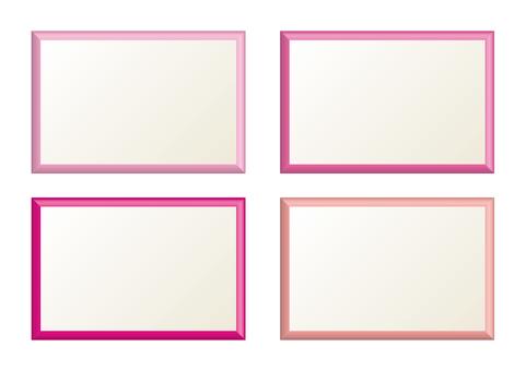 간단한 프레임 핑크 계열