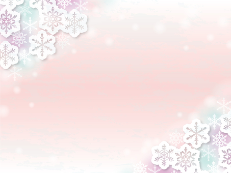 Snow crystal frame _A02