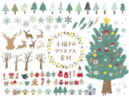 手描きのクリスマス素材
