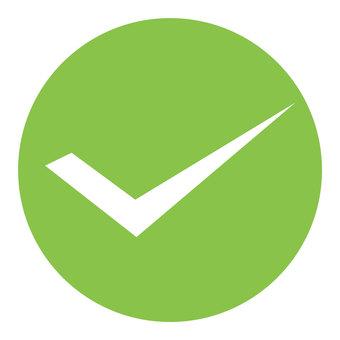 Check mark (green)