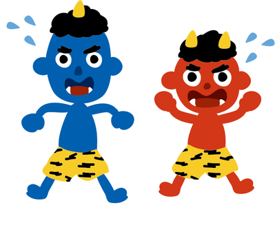Blue demon and red ony