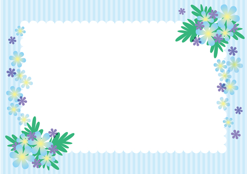 Blue flower frame 2