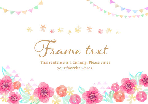 Girly material 033 Flower frame