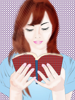 A woman reading a book 05