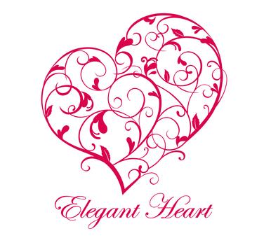Elegant ivy heart