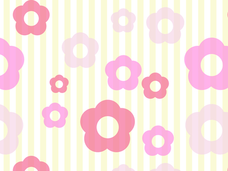 Background stripes × pink flowers