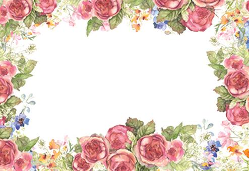 花枠293-何とも言えない色の薔薇枠