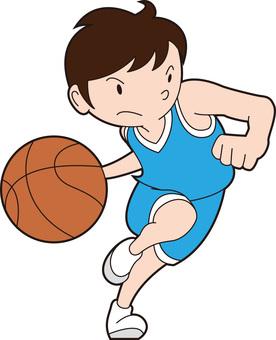 Dribble basketball kun