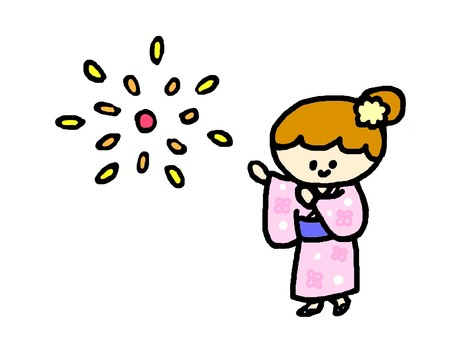Fireworks and Yukata