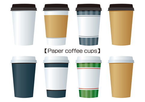Paper coffee cups