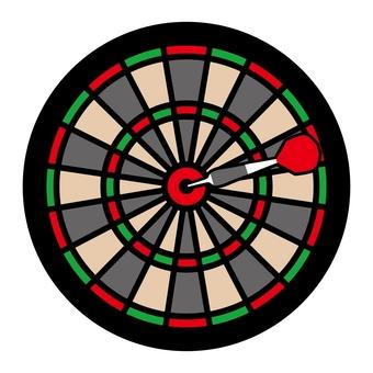 Dart board (red green)