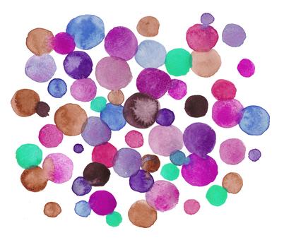 Watercolor dot pattern-pink