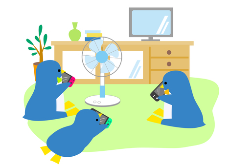 Penguins playing games