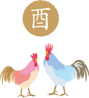 Signs of chicken and rooster