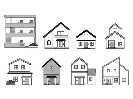 Building set monochrome